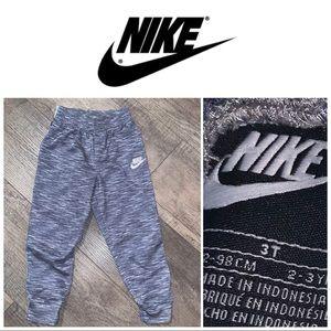 3T Nike Gray-White Heather Sweat Bottoms
